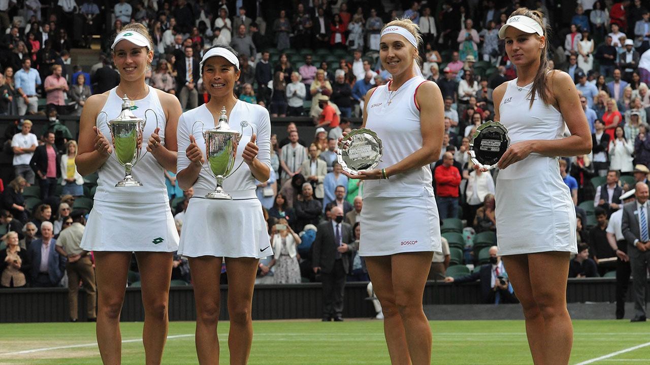 Веснина и Кудерметова уступили в финале Уимблдонского теннисного турнира в парах