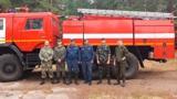 Юнармейцы помогли спасателям потушить пожар недалеко от Парижа