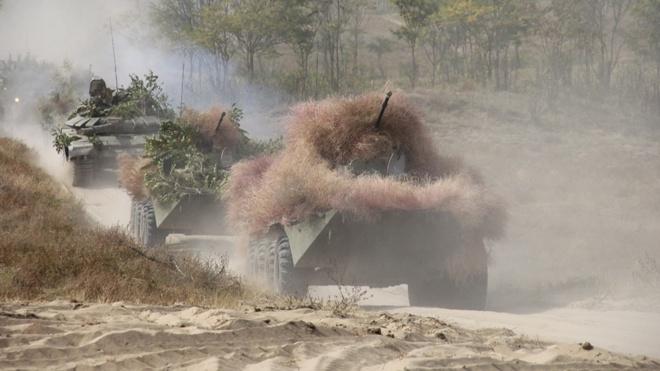 Мотострелки ЮВО отразили нападение «диверсантов» в Дагестане