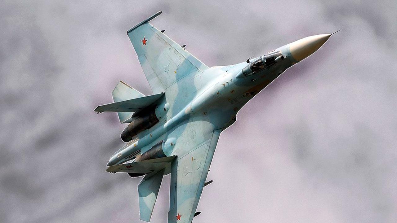 Су-27 сопроводил многоцелевой истребитель ВВС Германии над акваторией Балтийского моря