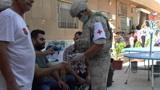 Российские военные провели совместную с православной церковью гуманитарную акцию в Сирии