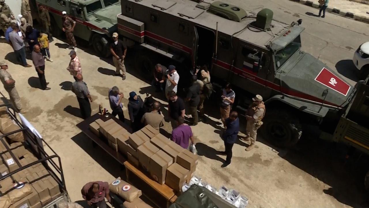 Тульская область передала сирийским беженцам продукты и предметы первой необходимости