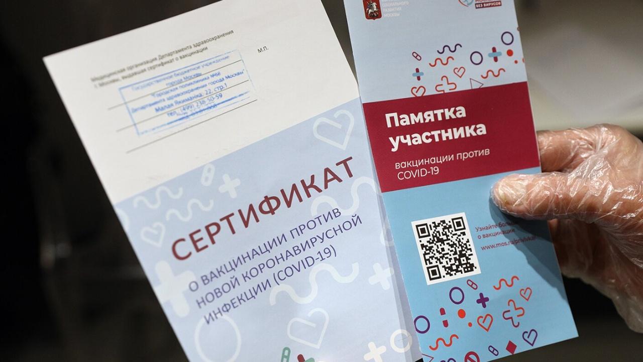 Россия ведет консультации с ЕС о взаимном признании COVID-сертификатов