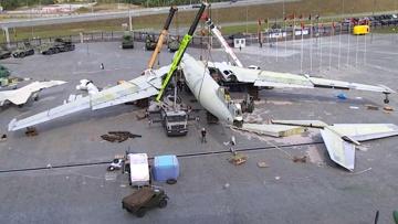 Восстал из пепла: на Урале поставили на шасси советский самолет-гигант «Бизон»
