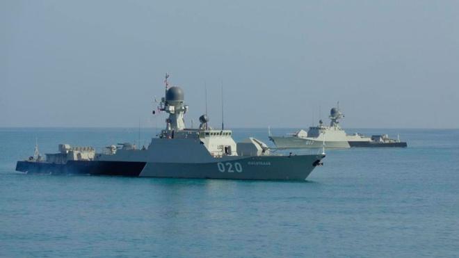 Корабли Каспийской флотилии прибыли в Иран для участия в конкурсе «Кубок моря»