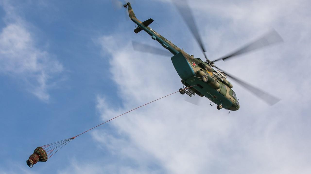 Вертолет Ми-8 Минобороны прилетел в Марий Эл тушить лесные пожары