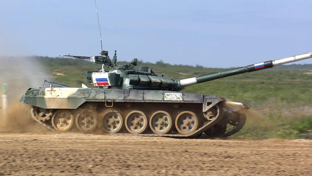 Российский экипаж финишировал на индивидуальной гонке «Танкового биатлона»