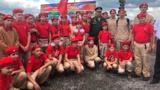 Активисты «Юнармии» первыми осмотрели экспозиции Белогорского парка «Патриот»