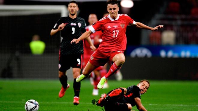 Сборная России сыграла вничью с командой Хорватии в матче отборочного раунда ЧМ-2022 по футболу