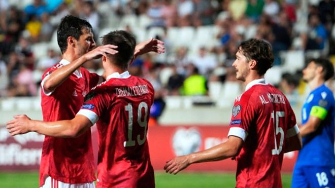 Сборная России обыграла Кипр в отборочном матче Чемпионата мира по футболу