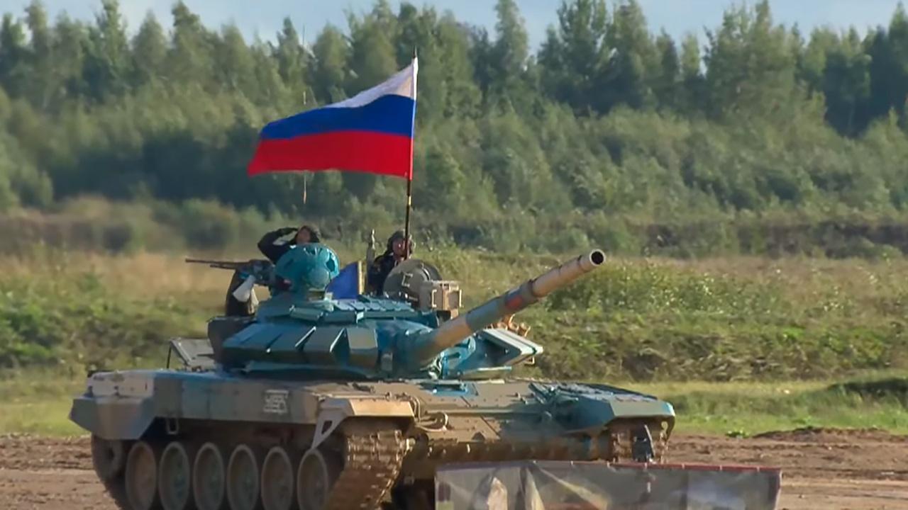 Российские военные показали лучший результат в «Танковом биатлоне»: победные кадры