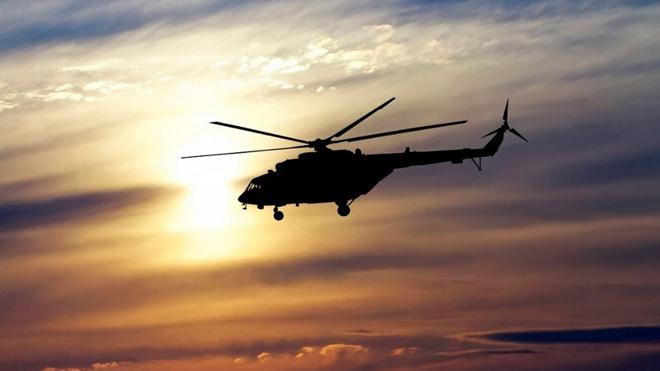 Ночной десант: Ми-8 и Ми-28Н «прикрыли» авиационную группу на полигоне Прудбой