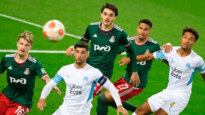 «Локомотив» в меньшинстве сыграл вничью с «Марселем» в матче Лиги Европы