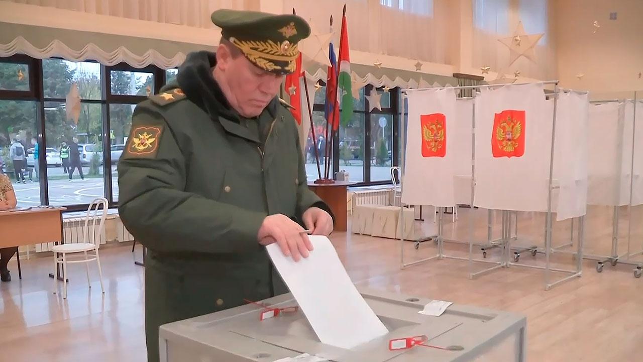 Начальник Генштаба ВС России Валерий Герасимов проголосовал на выборах в Госдуму