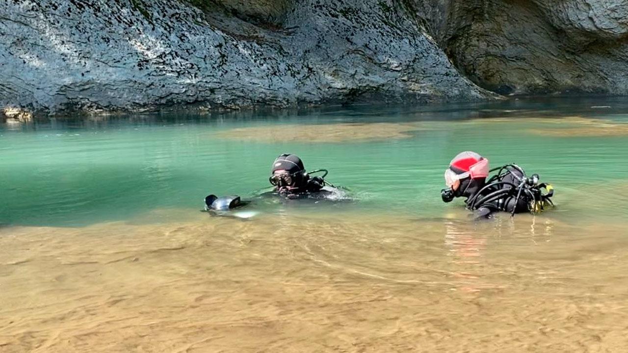 Дайверы РГО установили новый мировой рекорд погружения в горной реке