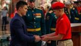 Никита Нагорный посвятил школьников в юнармейцы в музее Вооруженных Сил