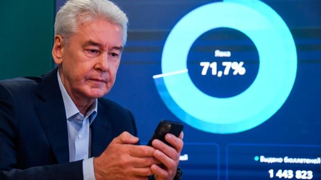 Собянин проголосовал на выборах в Государственную думу с телефона
