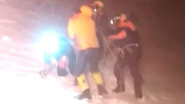 МЧС опубликовало кадры спасения американца с Эльбруса
