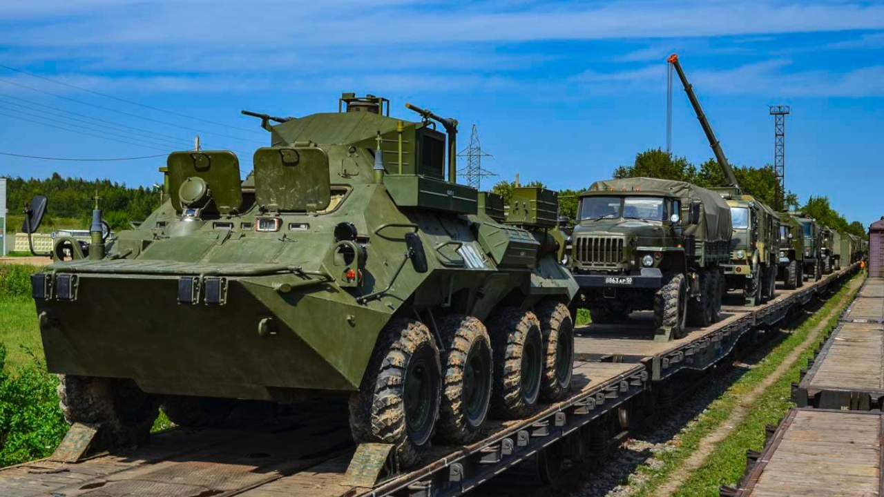 Военнослужащие и техника танковой армии ЗВО прибыли в Подмосковье после учений «Запад-2021»