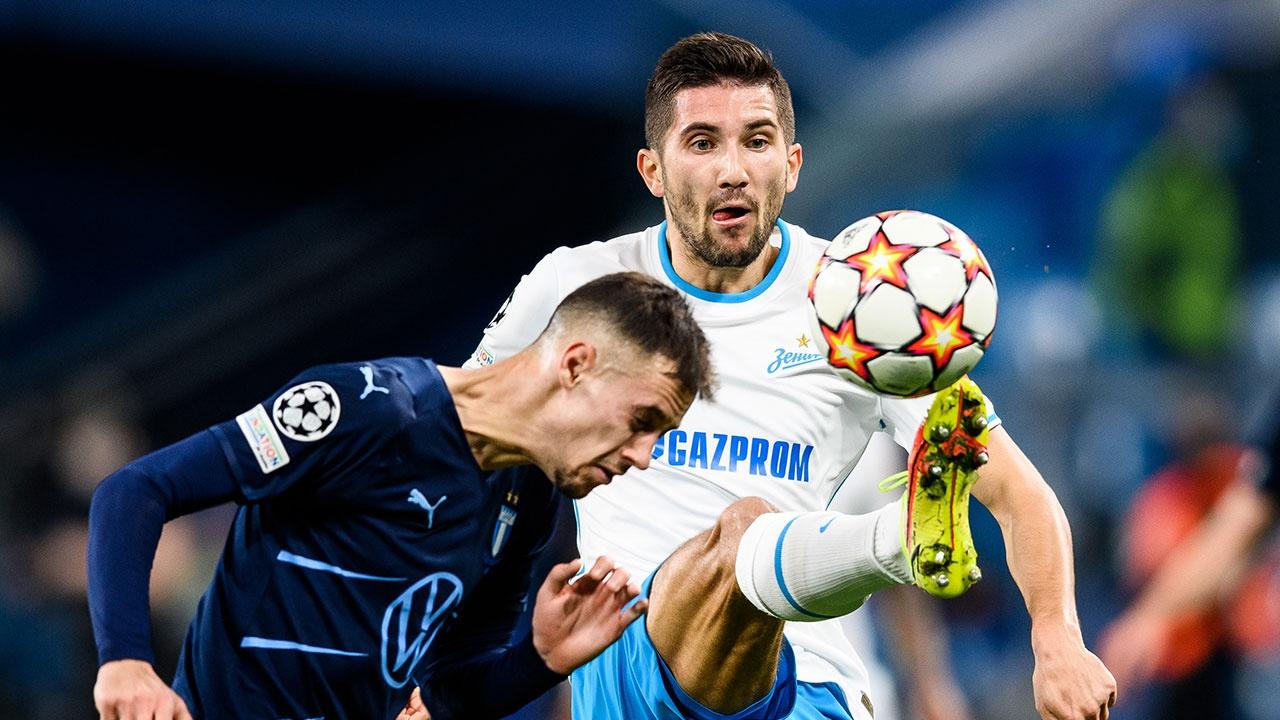 «Зенит» разгромил шведский «Мальме» в матче Лиги чемпионов