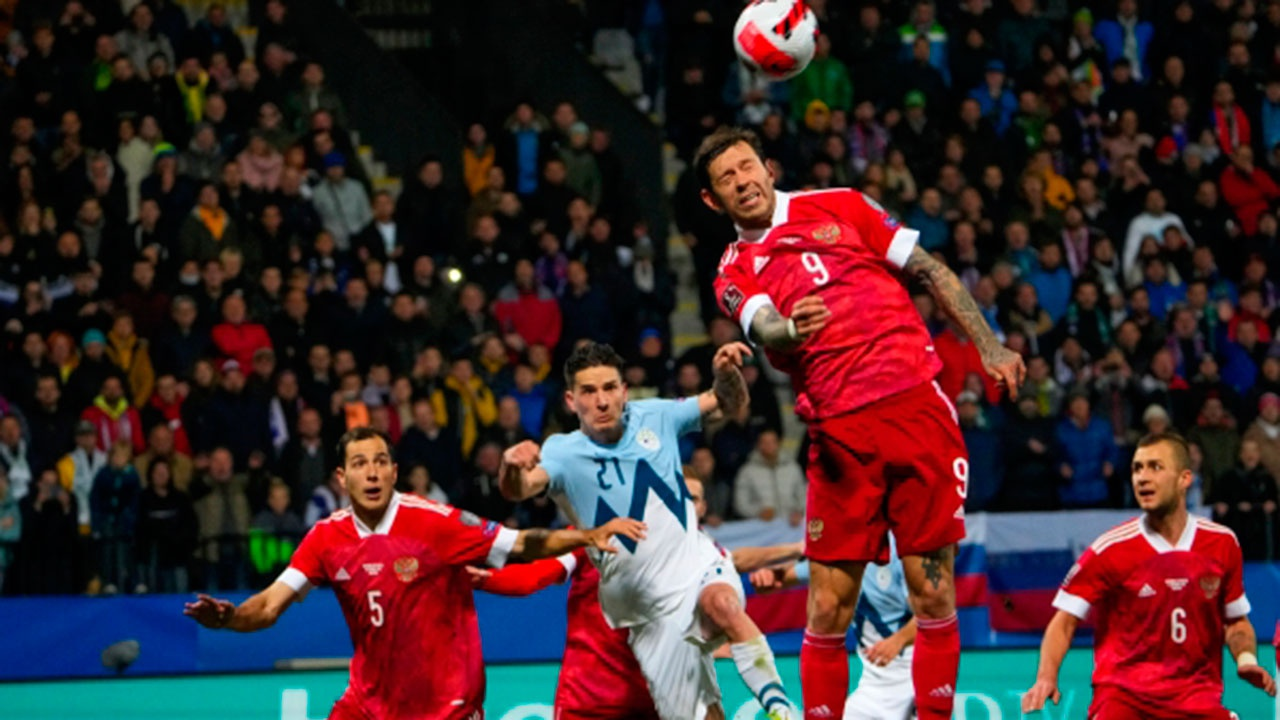 Сборная России обыграла команду Словении в отборочном матче ЧМ-2022