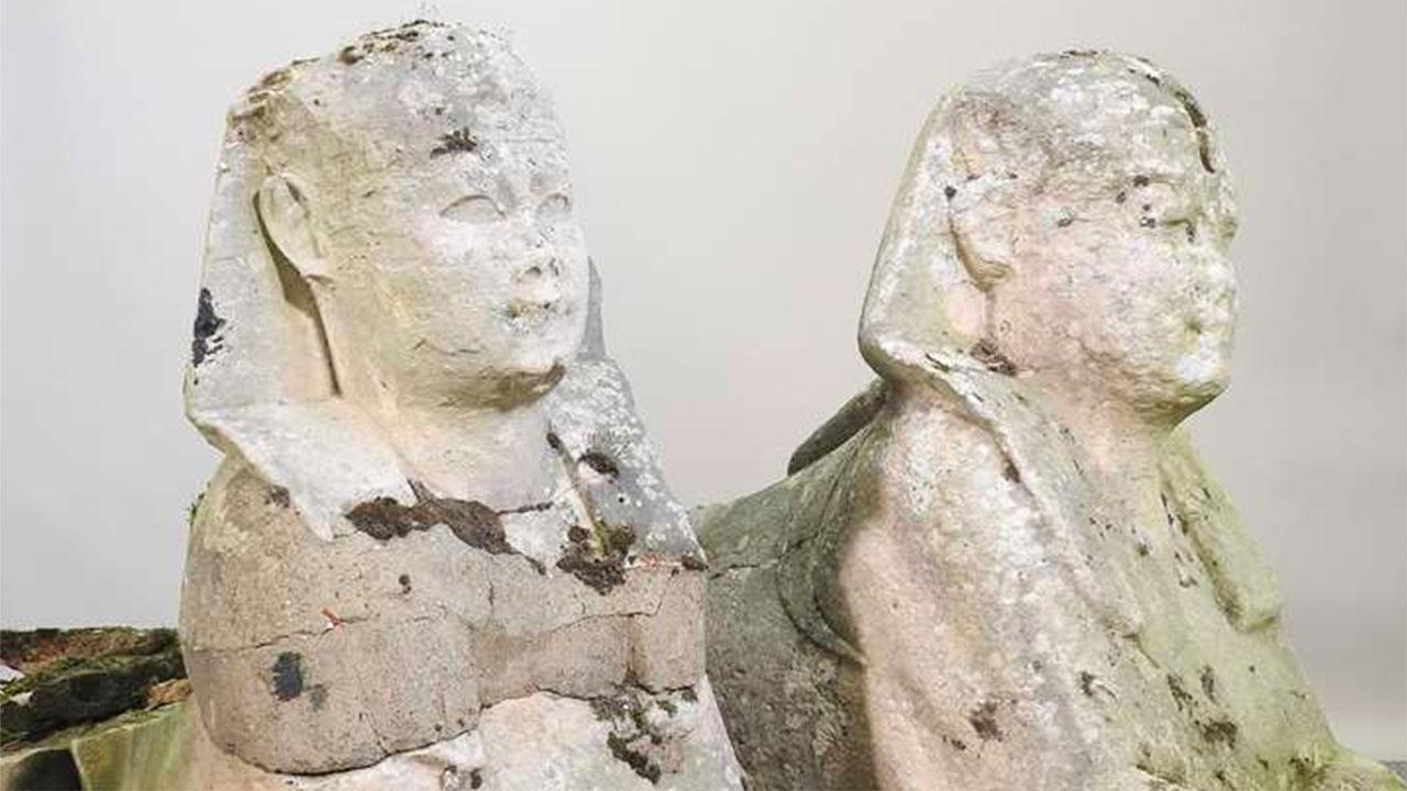 Садовые скульптуры оказались артефактами Древнего Египта ценой в 19 млн рублей