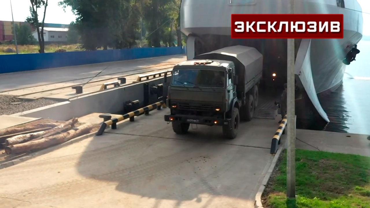 Десант высадился из БДК «Петр Моргунов» в освобожденном от «противника» порту: видео
