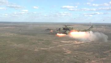 Экипажи армейской авиации ЗВО уничтожили инфраструктуру и военную технику «противника»